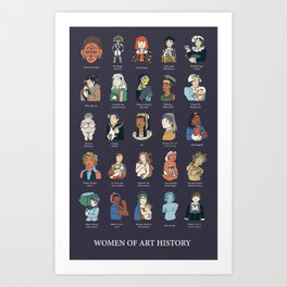 Women of Art History Art Print