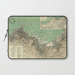 Vintage Map of Algiers Algeria (1912) Laptop Sleeve