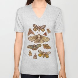 Moths Unisex V-Neck