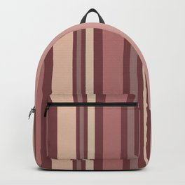 Striped Pattern (quiet shades of brown) Backpack