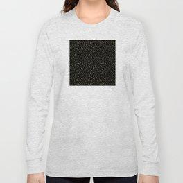 Art Deco Drops of Gold on Black Pattern Long Sleeve T-shirt