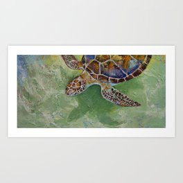 Caribbean Sea Turtle Art Print