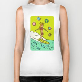 lady slider cross step // surfy birdy Biker Tank