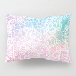 Pastel Rainbow Zendoodle. Love wins. Pillow Sham