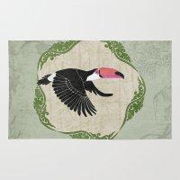 toucan Area & Throw Rugs featuring Toucan by Aquamarine Studio