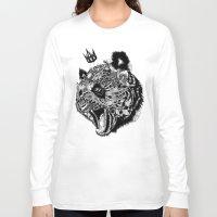 panda Long Sleeve T-shirts featuring Panda by Feline Zegers