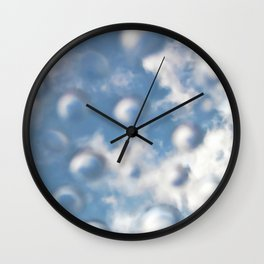 Sky Bubbles #abstract #art #society6 #decor Wall Clock