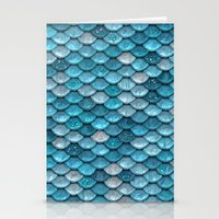 bisexual Stationery Cards featuring light turquoise sparkling scales by Better HOME