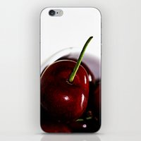 cherry iPhone & iPod Skins featuring Cherry by LoRo  Art & Pictures