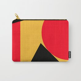 Abstract retro modern print in red black yellow colors Carry-All Pouch
