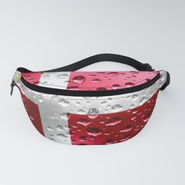 Flag of Denmark - Raindrops Fanny Pack