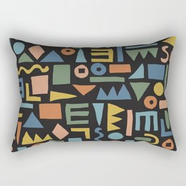 Colorful Shapes Rectangular Pillow