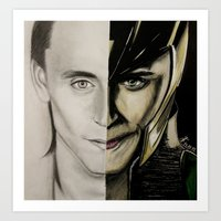 tom hiddleston Art Prints featuring Tom Hiddleston by Goolpia