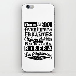 Quiero Vivir la Vida Aventurera iPhone Skin