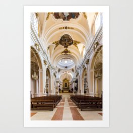 Central Nave - St. Justin Cathedral (Chieti, Italy) Art Print