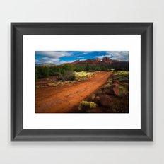 Red Desert Day Framed Art Print