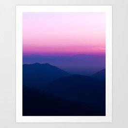 Pink Sky Mountains Art Print