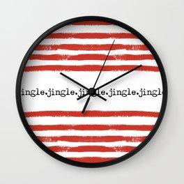 red stripes-jingle Wall Clock