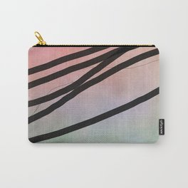 Pink Abstract with Lines - Pastel Carry-All Pouch