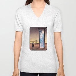 The broken window Unisex V-Neck