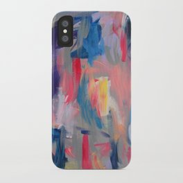 No. 60 Multicolour Modern Art Abstract iPhone Case