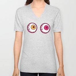 Candy Eyeball Pattern Unisex V-Neck