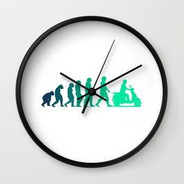 Scooter Evolution Moped And Scooter Gifts Wall Clock