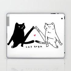 cat yoga Laptop & iPad Skin