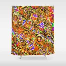 Bright circle twists  Abstract pattern  Shower Curtain
