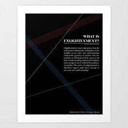 Philosophia I: What is Enlightenment? Art Print