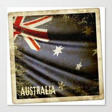 Grunge sticker of Australia flag Canvas Print