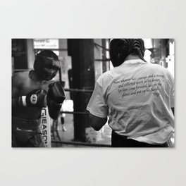 Sparring Canvas Print