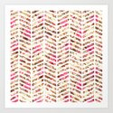Pink Vintage Floral Girly Chevron Zig Zag Pattern by railtonroad