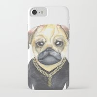 gangster iPhone & iPod Cases featuring Dog Gangster by Lucie Sperry