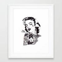 marylin monroe Framed Art Prints featuring Marylin Monroe by Kreatywny