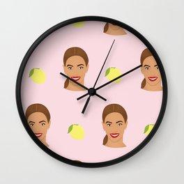 Queen Bey Lemon Design Wall Clock