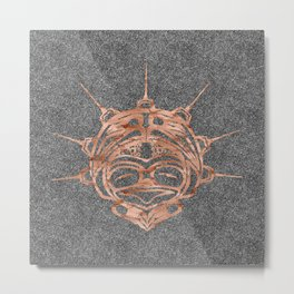 Copper Frog Smoke Metal Print