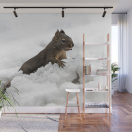 Winter Squirrel II -  Cute Wildlife Animals Nature Photography Wall Mural