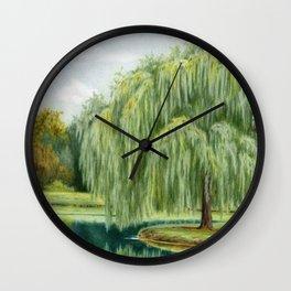 Under The Willow Tree by Sarah Batalka Wall Clock