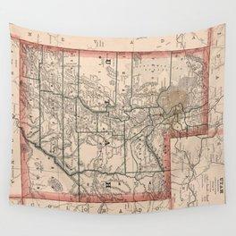Vintage Map of Utah (1883) Wall Tapestry