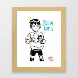 kageyama tobio pouting king! Framed Art Print