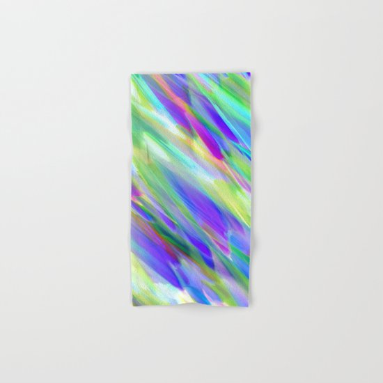 Colorful digital art splashing G401 Hand & Bath Towel