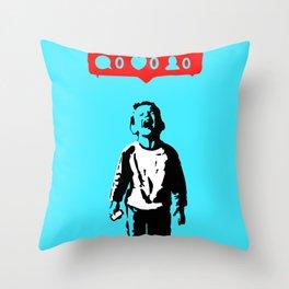 Banksy Nobody Likes Me Throw Pillow