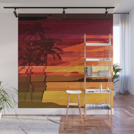 Tropical Glitchset Wall Mural