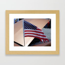 Flying Flag Framed Art Print
