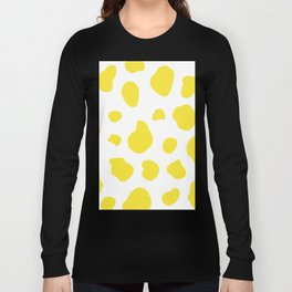 Yellow Cow Print Background Long Sleeve T-shirt