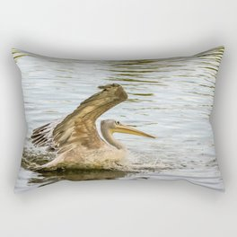 """Incoming Pelican"" Rectangular Pillow"