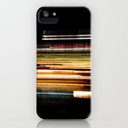 Fast Light on the Highway iPhone Case