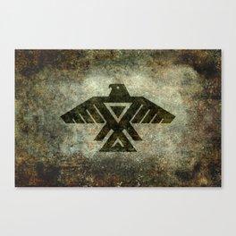 Thunderbird flag - Vintage grunge version Canvas Print