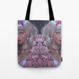 White Goth Twins Tote Bag